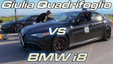 Drag race: Alfa Romeo Giulia QV contra BMW i8