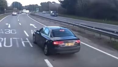 Vídeo: un Audi A4 provoca un accidente con un camión