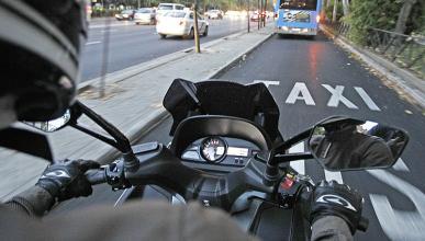 El carril-bus de La Castellana, prohibido para las motos