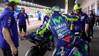 Valentino Rossi sigue siendo la peor Yamaha en Qatar