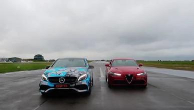 ¿Puede un Mercedes-AMG A45 batir a un Alfa Romeo Giulia QV?