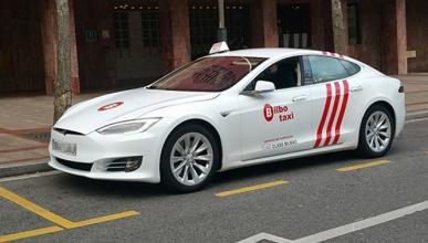 Este es el primer taxi Tesla de España
