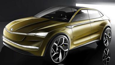 Así será el Vision E de Skoda, un prototipo de SUV eléctrico.