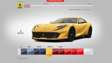 Ya puedes configurar tu propio Ferrari 812 Superfast