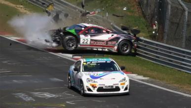 Vídeo: accidente de un Ferrari 488 GT3 en Nürburgring