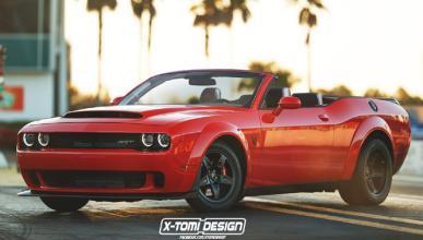 Así sería el Dodge Challenger SRT Demon en versión cabrio