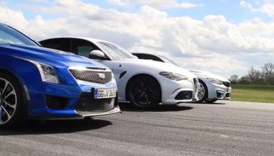 Vídeo: Alfa Romeo Giulia QV vs BMW M3 vs Cadillac ATS-V