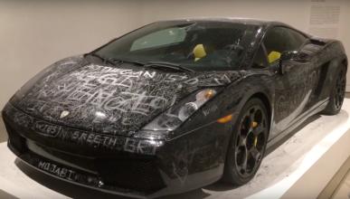 Vídeo: el arte del 'arañazo' plasmado en un Lamborghini