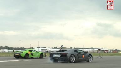 El McLaren 650S y el Lamborghini Aventador cara a cara