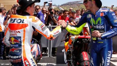 Márquez defiende el adelantamiento de Zarco sobre Rossi