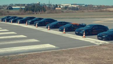 Bestial carrera de aceleración entre 10 coches modificados