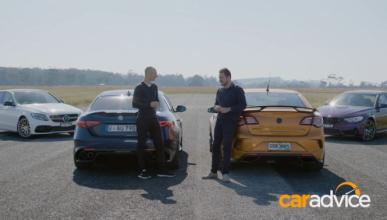 Vídeo: Alfa Giulia QV, BMW M3, Mercedes C63 vs HSV GTSR W1