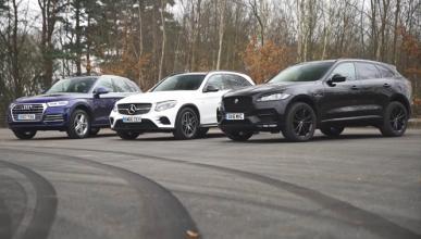 Vídeo: Audi Q5 contra Jaguar F-Pace y Mercedes GLC