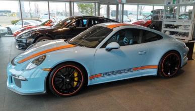 Porsche 911 R con decoración Gulf: espectacular