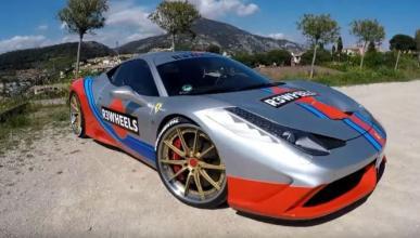 Vídeo: un Ferrari 458 Speciale con decoración Martini