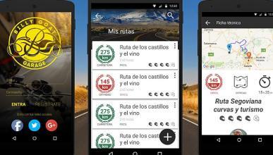 Billy Goat Garage: nueva app que premia tus rutas en moto