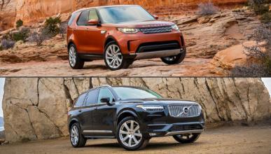 ¿Cuál es mejor, Land Rover Discovery 2017 o Volvo XC90?