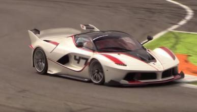 Vídeo: exhibición de los Ferrari FXX K en Monza