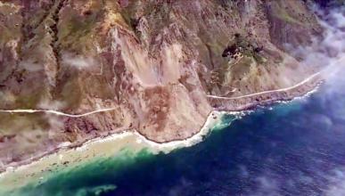 Vídeo: desprendimiento de tierra entierra una carretera