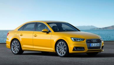 Audi A4 amarillo sedán