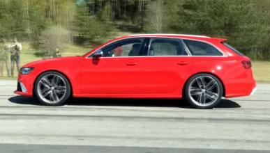 Vídeo: dos Audi RS6 modificados se baten en una carrera