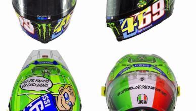 Casco Rossi Mugello 2017: homenaje a Nicky Hayden y Totti