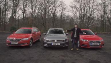 Vídeo: Audi A4 Avant vs Skoda Superb vs VW Passat Variant