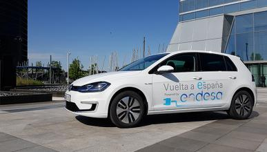 El VW e-Golf, en la I Vuelta a España de coche eléctrico