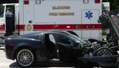 Mira como terminó este Corvette ZR1