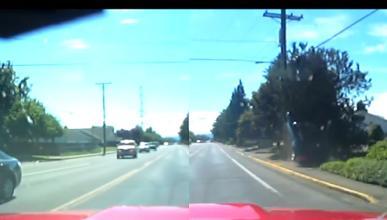 Un idiota al volante de un Camaro recibe su merecido