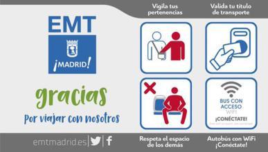 Los autobuses de Madrid, contra el 'manspreading'