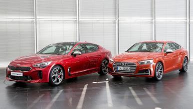 Prueba estática: Kia Stinger vs Audi S5
