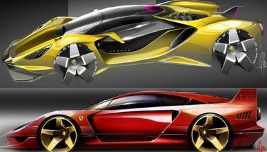 El ayer y el hoy fusionados en estos diseños Ferrari