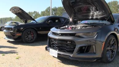 Drag Race: Chevrolet Camaro ZL1 2017 vs Challenger Hellcat