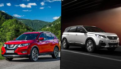 ¿Cuál es mejor, Nissan X-Trail 2017 o Peugeot 5008?