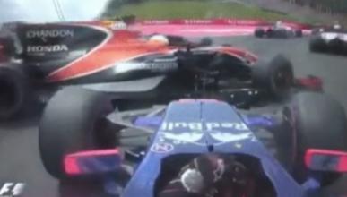 Accidente de Fernando Alonso en la salida del GP Austria