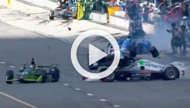 El accidente en la Indycar que te dejará sin respiración