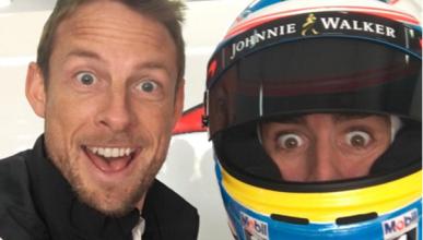 Alonso y Button, al mal tiempo buena cara
