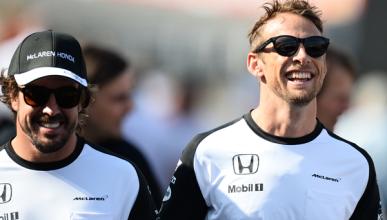Alonso es más difícil de batir que Hamilton, según Button