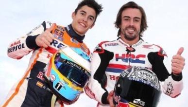 Alonso felicita a Márquez por su campeonato de MotoGP