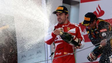 Alonso Ferrari podio Montmelo
