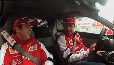 Alonso - Massa - Ferrari 458 Italia - Montmelo - 2013