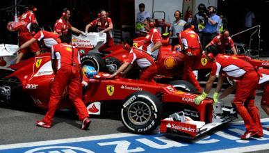 Alonso - Massa - Ferrari - Box - Brasil 2012