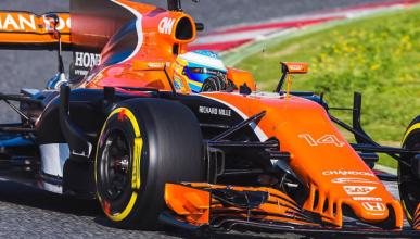 Alonso pilota por primera vez el McLaren MCL32