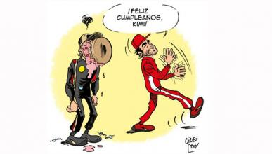 Alonso - Raikkonen - felicitacion - Lotus