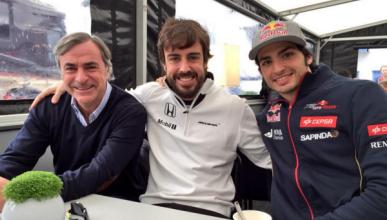 Alonso trabaja codo con codo con los Carlos Sainz en Jerez