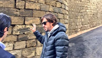 Alonso visita el trazado del GP de Europa 2016 en Bakú