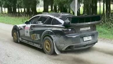 Un brutal Mazda RX-8 de rally en una especial cronometrada
