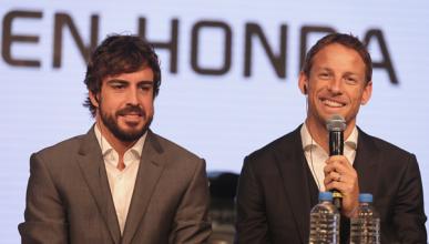"""Button: """"es una pena que Alonso no corra en Australia"""""""