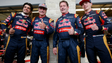 Carlos Sainz Sr y Jos Verstappen se visten de pilotos de F1
